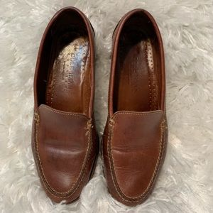 Cole Haan Cognac Leather Loafers Sz 8 1/2 Narrow